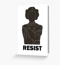 Princess Leia - Resist Greeting Card