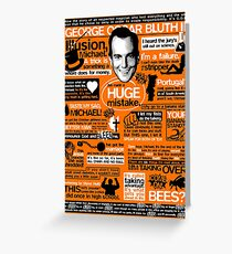 The Wise Words of GOB Greeting Card