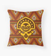 Polynesian Tiki Throw Pillow