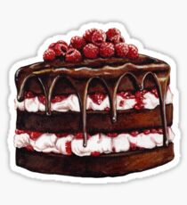 Chocolate Raspberry Cake Sticker