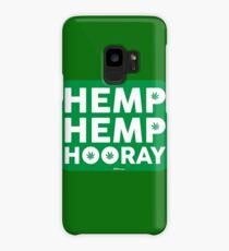 Hemp Hemp Hooray White Green Case/Skin for Samsung Galaxy