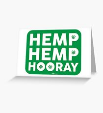 Hemp Hemp Hooray White Green Greeting Card