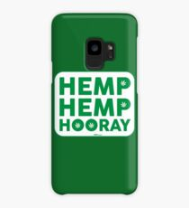 Hemp Hemp Hooray Green White Case/Skin for Samsung Galaxy
