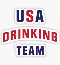 USA Drinking Team Sticker