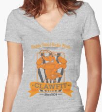 Clawfit Women's Fitted V-Neck T-Shirt