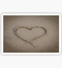 Beach Valentine Heart Cinematic Sticker