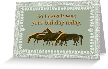 Horse Birthday Card Greeting Cards By AliceCorsairs