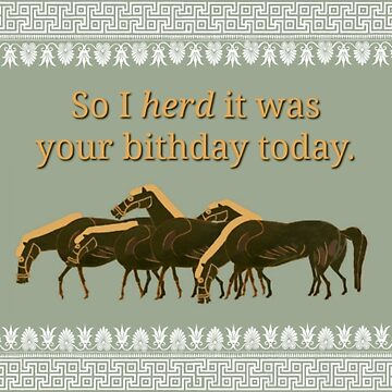 Horse Birthday Card by AliceCorsairs