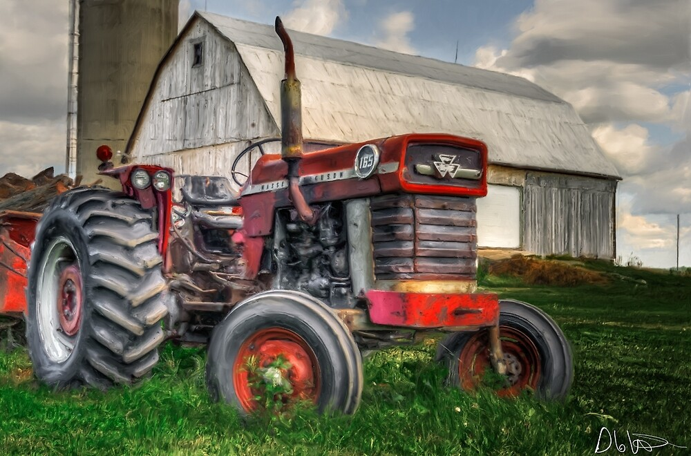 Farm Scene Painting by Garvin Hunter Photography