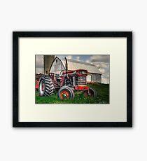 Farm Scene Painting Framed Print