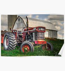 Farm Scene Painting Poster