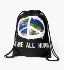 "Anti-trump #nomuslimban Resist ""We Are All Human  Drawstring Bag"