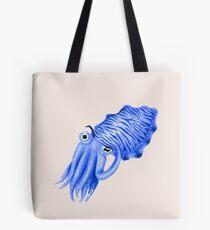 Royal Blue Cuttlefish Tote Bag