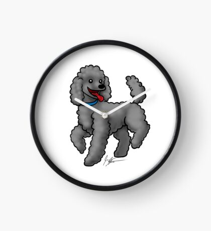 Poodle Black Clock