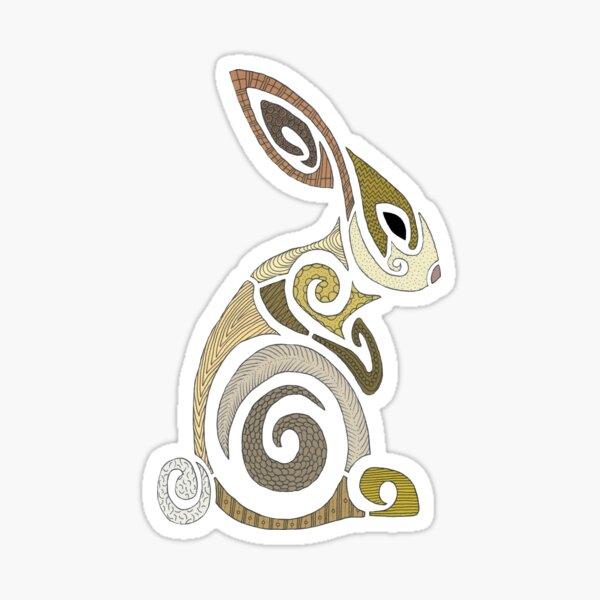 Patchwork Bunny Sticker