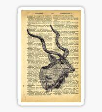Dictionary Kudu Sticker