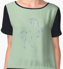 """Kelly"" the Wild Horse Chiffon Top"
