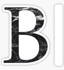black marble b // beta  Sticker