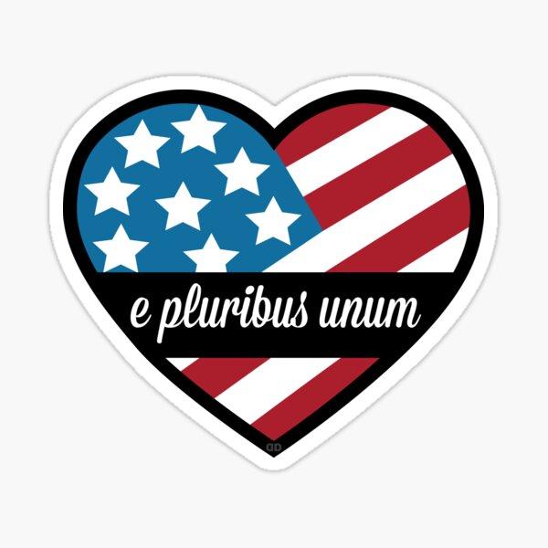 e pluribus unum Sticker