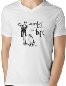 While There Is Tea There Is Hope Mens V-Neck T-Shirt