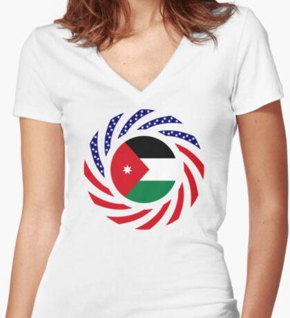 Jordani American Multinational Patriot Flag Series Fitted V-Neck T-Shirt