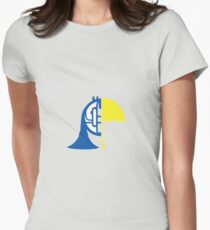 Half and half Womens Fitted T-Shirt