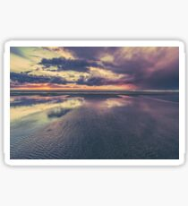 Ocean Sea Beach Water Clouds at Sunset - Pacific Coast Highway Long Beach, WA Sticker