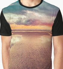 Ocean Sea Beach Water Clouds at Sunset - Hwy 101 Pacific Coast Highway Graphic T-Shirt