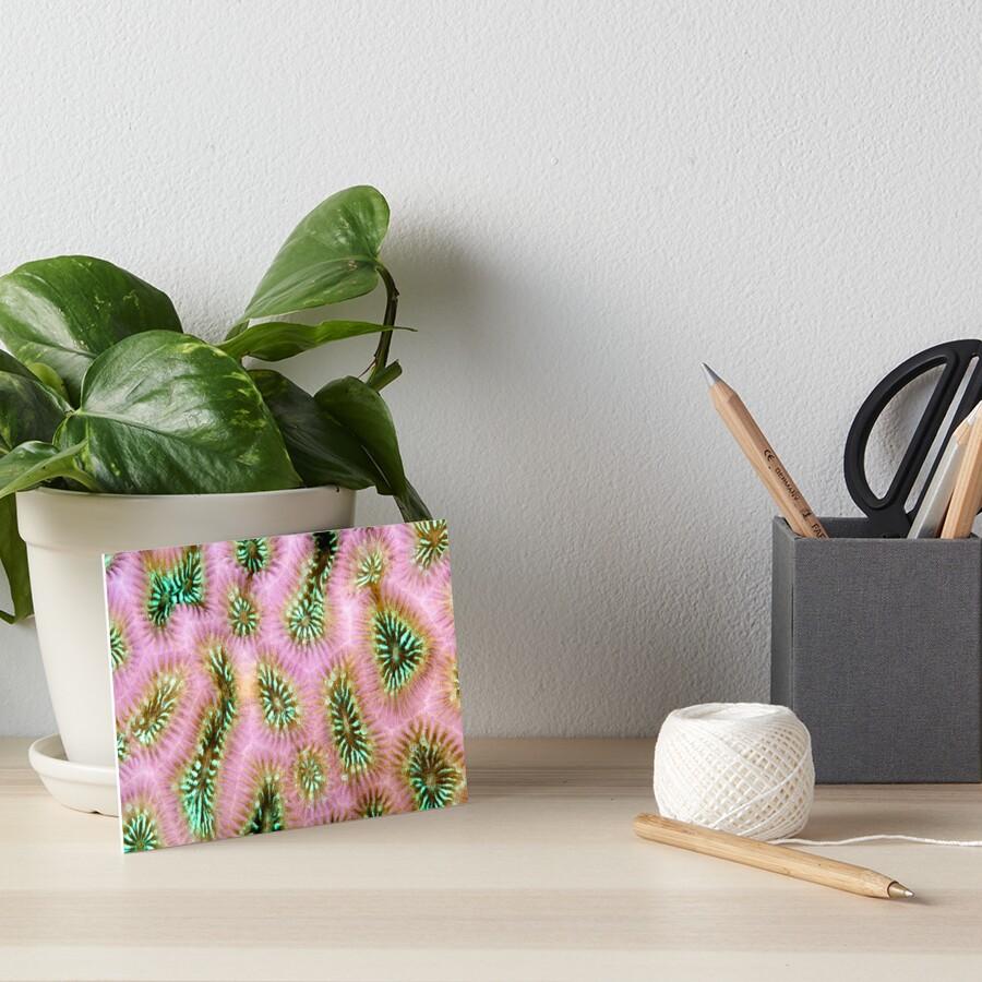 Coral polyp abstract Art Board Print