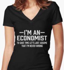 Economist Assume  Women's Fitted V-Neck T-Shirt