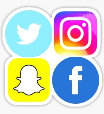 Social Media- Twitter, Facebook, Instagram and Snapchat Sticker