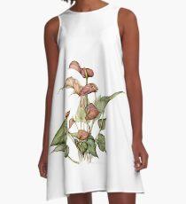 Anthurium--Reach A-Line Dress