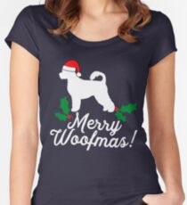 Portuguese Water Dog  Women's Fitted Scoop T-Shirt