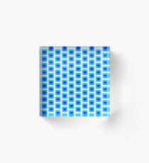 diamond symbol light blue  Acrylic Block