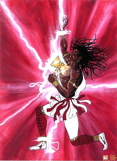 CHANGO - Orisha of Thunder & Lightning by cjjuzang
