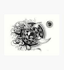 Conception of time abstract mandala drawing Art Print