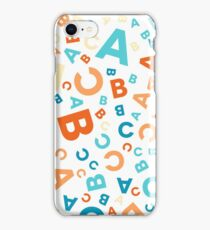 ABC pattern 01 iPhone Case/Skin