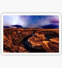 Starseeds - Starry Sky Night at Horseshoe Canyon Arizona Sticker