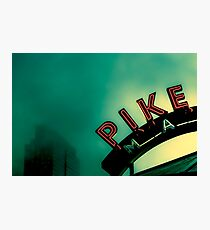 Seattle City Architecture Sign Seattle Pike Place Market Photographic Print