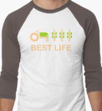Farm Life Best Green Nature Eco Bio healthy Men's Baseball ¾ T-Shirt