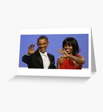 Barack & Michelle Greeting Card