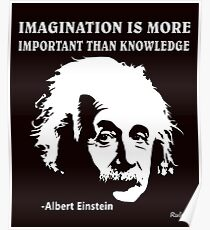 Póster Rule Albert Einstein T-Shirt Imagination Is More Important Than Knowledge