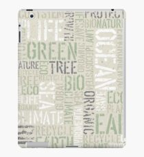 Ecology Words iPad Case/Skin