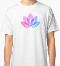 Purple Lotus flower - Yoga Day design Classic T-Shirt