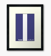 Pause Deep House Music Logo Cool Beats Framed Print