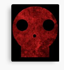 Skull red decay  Canvas Print