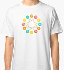 Zodiac circle, twelve Zodiac signs set Classic T-Shirt