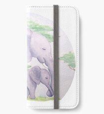 Elephant love iPhone Wallet/Case/Skin