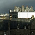 Moody Aberdeen Rooftops - Storm Clouds and Multi-flue Chimneys by Georgia Mizuleva