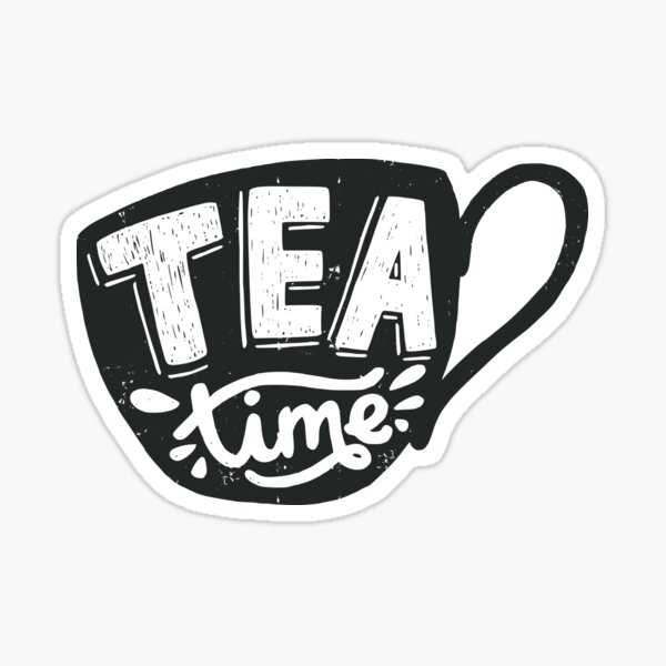 Tea Time Sticker